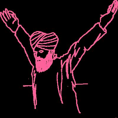 3. Руки в Гьян Мудре под углом 60 градусов картинка
