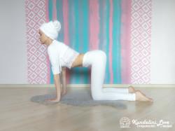 Кошка-корова 1. Упражнение Кундалини Йоги картинка