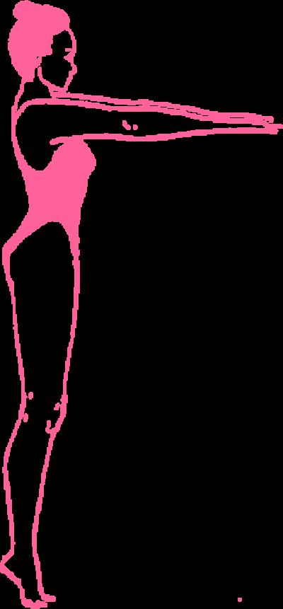 Глубокое медленное дыхание стоя на носочках с вытянутыми руками. Упражнение Кундалини Йоги картинка