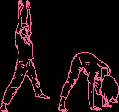 Наклоны с широко расставленными ногами. Упражнение Кундалини Йоги картинка