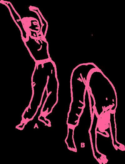 Упражнение «Наклоны вперёд из положения стоя» в Кундалини Йоге картинка
