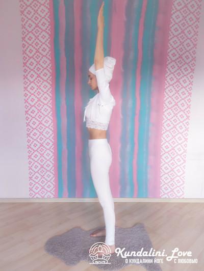 Подъемы на носки 1. Упражнение Кундалини Йоги картинка