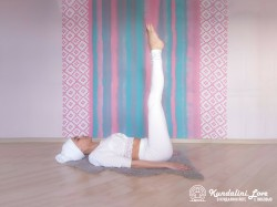 Подъём ног. Упражнение Кундалини Йоги картинка