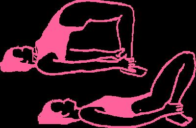 Подъемы ягодиц из положения лежа на спине. Упражнение Кундалини Йоги картинка