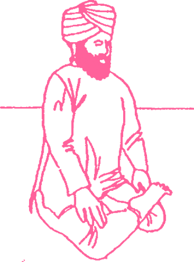 Поза Полулотоса в Кундалини Йоге, вариант 1 картинка