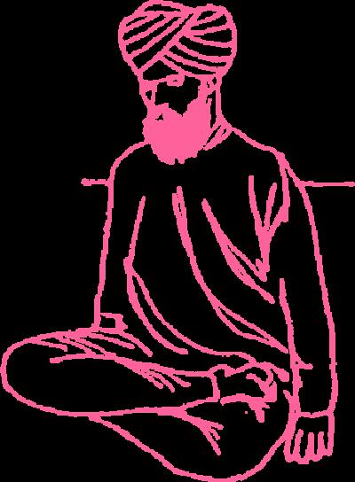 Поза Полулотоса в Кундалини Йоге, вариант 2 картинка