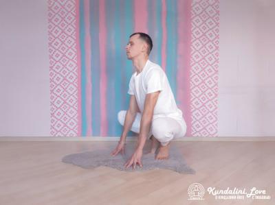Поза Лягушки 1. Упражнение Кундалини Йоги картинка