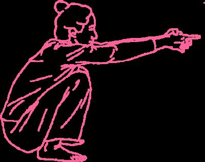 Поза Ворона. Упражнение Кундалини йоги картинка