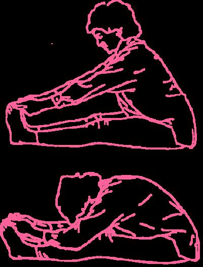Растяжение жизненного нерва. Упражнение Кундалини Йоги картинка