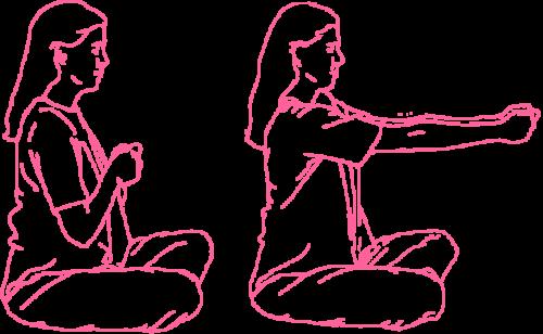 Вытягивания рук. Упражнение Кундалини Йоги 1 картинка