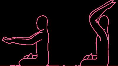«Выплескивание воды за голову» — упражнение Кундалини Йоги картинка